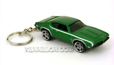 Custom Keychain Oldsmobile 442 W-30 Metallic Green