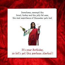 Funny December Birthday Card - Son Friend - Christmas - Amusing Humorous Humour