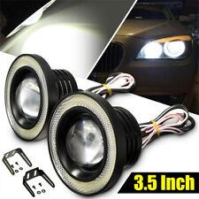 """2X 3.5"""" Inch LED Fog Light Projector Car Blue Angel Eyes DRL Lamp Bulbs US Ship"""