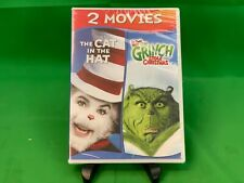 The Cat in the Hat & How the Grinch Stole Christmas (Dvd) No slipcover. New