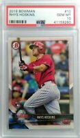 Rhys Hoskins 2018 Bowman #10  ROOKIE PSA 10 GEM MINT HOT ROOKIE GEM MINT PSA RC