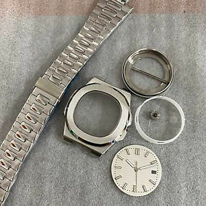 Watch Case+Strap+Dial+Hands 41mm Sapphire Glass Case Watch for NH35/36 Movement