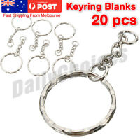 Bulk Split Metal Key Rings Keyring Blanks With Link Chains For DIY Craft