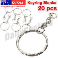 Bulk Split Metal Key Rings Keyring Blanks With Link Chains For DIY Craft