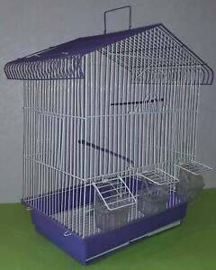 Cages oiseaux  3 mangeoires Maisonnette