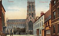 POSTCARD  YORKSHIRE - DONCASTER - ST GEORGES CHURCH - CIRCA 1907