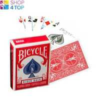 BICYCLE RIDER BACK MINI SPIELKARTEN STANDARD INDEX ROT MAGISCHE TRICKS POKER