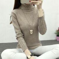 Knitted Winter Sweater Women Turtleneck 2019 Fashion Korean Cashmere Jumper