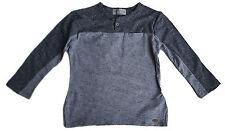 ZARA Boy GREY MARL Bias Cut Panel Long Sleeved T-Shirt Top 4y £8.99