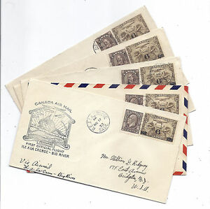 March 17 1933 Canada FFC Cover Lot of 5 - Saskatchewan w/ 166, 196 & C3