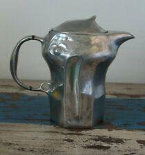 More details for art nouveau kayserzinn pewter coffee pot 4543. hugo leven design. stamp to base.