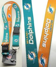 NFL Miami Dolphins two tone Clip On Lanyard