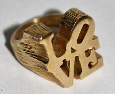 Robert Indiana Vintage Gold Ring LOVE Pop Art Jewelry