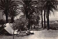 TARRAGONA SPAIN~CAMPING LAS PALMERAS~MOTORCYLE WITH SIDECAR PHOTO POSTCARD