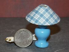 Dollhouse Miniature Lamp Blue Plaid 1:10 scale K93 Bodo Hennig Dollys Gallery