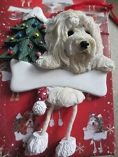 Goldendoodle ~ Dangling Dog Ornament #125