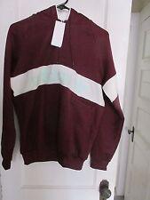 ADIDAS Maroon Archive Series Pullover Quarter-zip Sweatshirt Hoodie Mens Medium