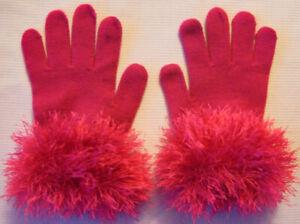 Each Pair UNIQUE! Handmade Ladies' Fun Fur Fashion Gloves with Adjustable Cuffs