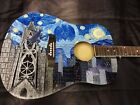 Starry Knight Guitar, Hand-painted custom artwork for sale