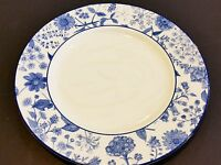 "Vintage England Royal Stafford Blue & White Fine Earthenware 11"" Dinner Plate"