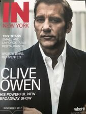 CLIVE OWEN cover IN NEW YORK magazine mint condition Great Cover