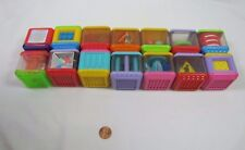 14 Fisher Price PEEK A BLOCK Blocks Audio Visual Tactile Development Toy Lot #4