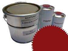 3 Litres Set 2K Revêtement de sol RAL 3003 Rouge rubis Glanz Peinture Atelier