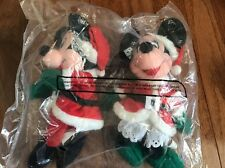 """Disney Retired Christmas Mickey and Minnie Mouse 7"""" Holiday Plush NWT"""