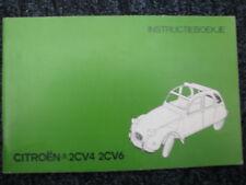 Citroën Instructieboekje Citroën 2CV4 2CV6 (Nederlands)
