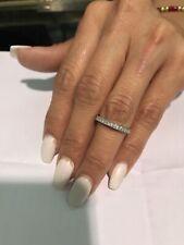 0.75 Ct 14K White Gold Round Eternity Wedding Anniversary Bridal Ring Band