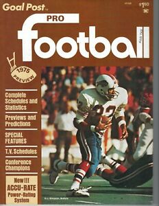 1975 Goal Post Pro Football magazine O.J. Simpson,Buffalo Bills, 1975 Preview ST