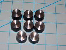 """GE Replacement Radio Knob Aluminium Insert 1/4"""" D Shaft - NOS - Set of Eight (8)"""