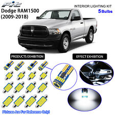 5 Bulbs LED Interior Light Kit Cool White Dome Light For 2009-2018 Dodge RAM1500