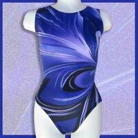 Gymnastics Leotard Girls sizes Child 7-14 Teal Purple Magenta Kaleidoscope NEW