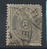 Islande N°7 Obl (FU) 1876 - Dentelés 14X13 1/2