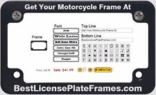 Motorcycle CNC Machined Anodized Aluminum License Plate Frame - Slim Line