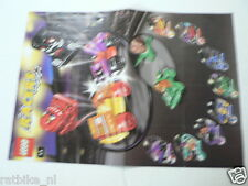 LEGO BROCHURE FLYER CATALOG TOYS LEGO RACERS DUTCH 2 PAGES 116
