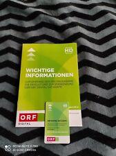ORF ICE HD SAT Karte Digital AKTIV und freigeschaltet Gültigkeit 5 Jahre