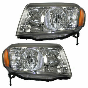 TYC FIT FOR HONDA PILOT 2009 2010 2011 HEADLIGHT HALOGEN RIGHT & LEFT PAIR SET