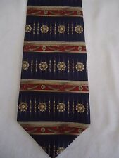 "Metropolitan Museum Art Masterworks Collection Blue Red Designs Silk Tie 58"""