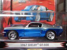 1967 SHELBY GT-500 1 BADD RIDE SERIES 7 SILVER / BLUE STRIPES 1/64 NEW