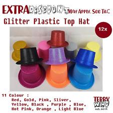 12x Costume Party hat Glitter Wedding Plastic Top Halloween Fancy Easter