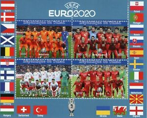 Chad Football Stamps 2021 MNH UEFA Euro 2020 Netherlands Soccer Sports 4v M/S