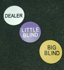 Dealer Buttons Dealer Little & Big Blind poker chips cards gambling casino