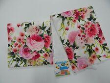 Floral Burp Cloths Pink Rose Madeline 2 Pack Toweling Backed GREAT GIFT