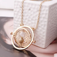 Magic Pendant Time Turner Necklace Hourglass Deathly Hallows Alloy Plated Gifts