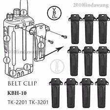 10x KBH-10 Belt Clip for Kenwood TK2201 TK3201 TK2202 TK3202 Portable Radio
