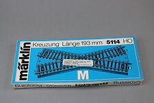 V216 Marklin train Ho M croisement 5114 Märklin 193 mm Länge Kreuzung