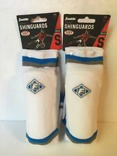 """Franklin Sock'r Shin Guards Small Youth Up To 4'7"""" White- 2 pack"""