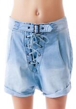 ONE TEASPOON shorts CHAMBRAY SUPERFREAK low crotch baggy  XS uk 6 BNWT skater